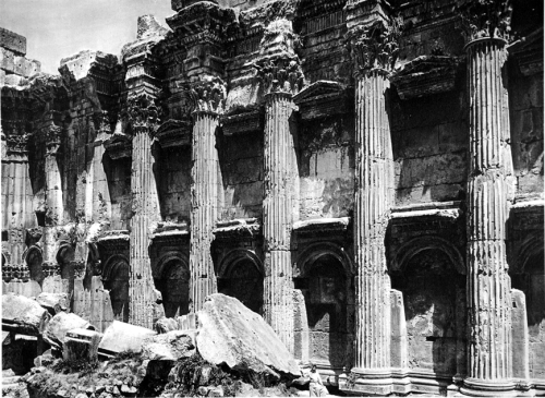 Interior of the Temple of the Sun, Baalbek, Syria, 1920s