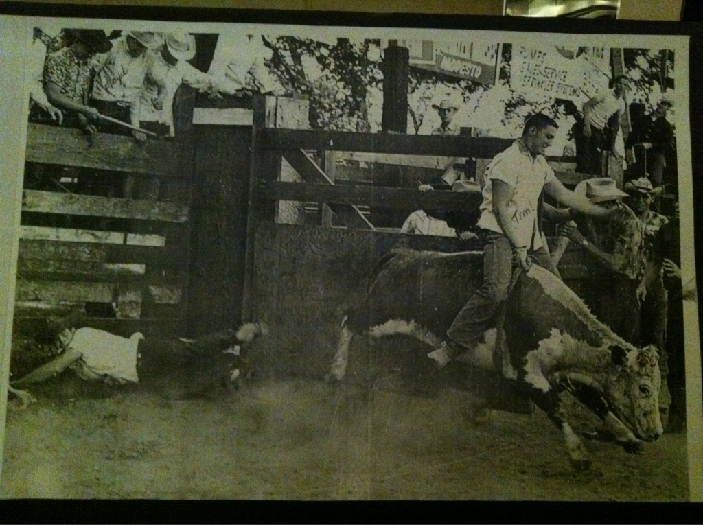 70th birthday party for the man on the bull.