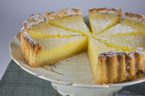 gastrogirl:  zesty lemon tart with a pastry crust.