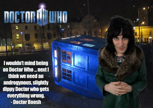 tasteless-and-unoriginal:  Doctor Boosh  Damn I love internet rumours!