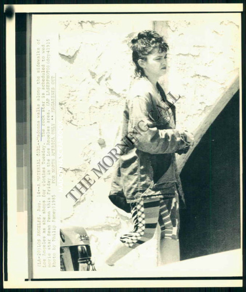 Madonna shopping in LA - August 14, 1985 - two days before her marriage to Sean Penn.