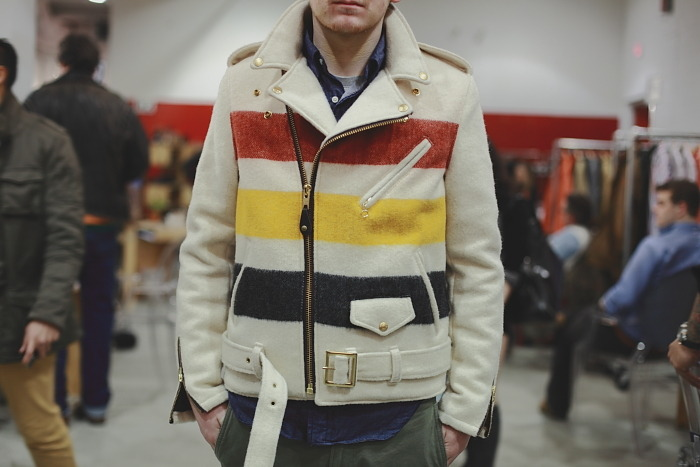 youbroketheinternet:  Schott Perfecto x Pendelton  This jacket is killer, even when it's a size big for me