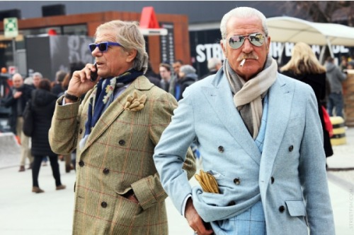 Some other radical gentlemen strolling Pitti. (via Milan Fashion Week Menswear F/W 2012: Front Row, Street Style, Parties & More!)