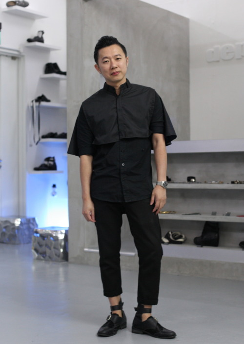 "Andrew Loh Designer/Co-Owner fashion label DEPRESSION Before DEPRESSION, I was an advertising Graphic Designer cum Art Director. My have fashion item is the T-Shirt. ""Whenever I feel down, I try to use my emotions as a source of inspiration for design. Think positive! You'll be surprised at how creative the results can be."" www.youthinmind.sg Photo Credits:La Mode Outré"