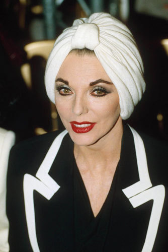 "antoscar:  ""Joan Collins has a room for her wigs in her house in the south of France.  Apparently, she calls the room her ""Norma Desmond suite""."