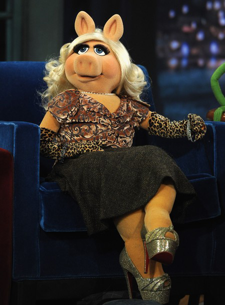 Miss Piggy in Louboutin heels