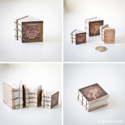 gohlikim:  Now you can own this miniature handmade book. :)