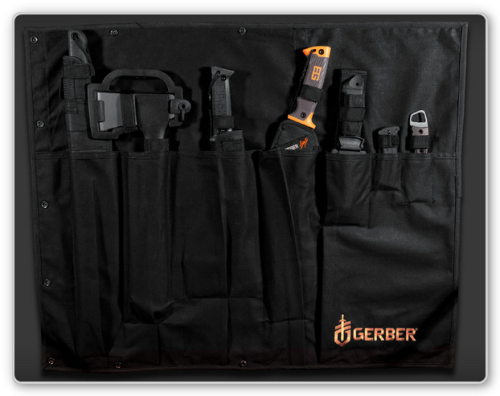gunrunnerhell:  Gerber Zombie Apocalypse Kit (For any Walking Dead fans, Gerber offered a limited run of the tool kit from season 2…they now show up on eBay for $700-$1,500 even though I'm pretty sure you could buy each individual piece for cheaper to assemble the kit, just not in those colors or with the carry case.)
