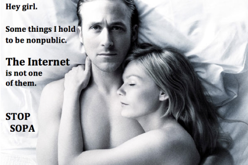 Hey girl.  Some things I hold to be nonpublic.  The Internet is not one of them.  STOP SOPA