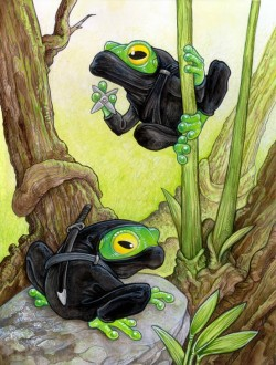 Ninja Frogs by `ursulav