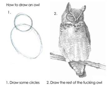 A really helpful tutorial on owl drawing!