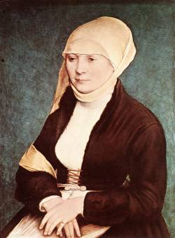 tourettesyndrome:  Portrait of the artist's wife (?), Hans Holbein the Younger  i would like a fur overcoat/dress/corset thing like this please.