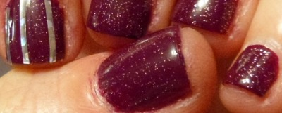 #plum #cnd #creativenaildesign #truffle #glitter #glitternails #nailstriping #nailtape #nailart #birthday