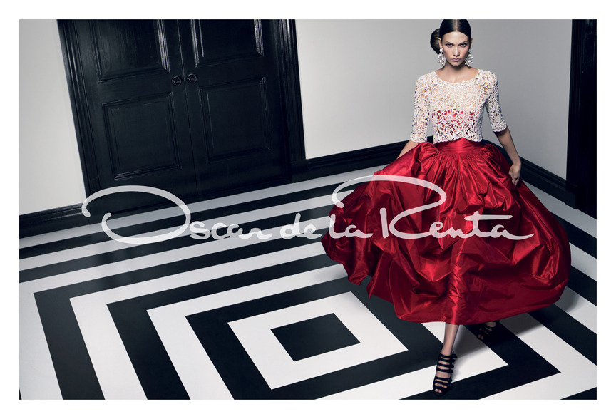 oscarprgirl:   our spring 2012 campaign, shot by Craig McDean & featuring Karlie Kloss. Styled by Alex White.