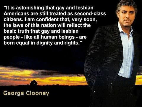 George Clooney on LGBTQ, GLBT, LGBT second-class citizenry