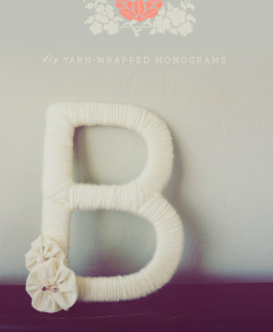 "DIY monograms! So easy to make and so cute. On my crafting ""to do"" list for sure."