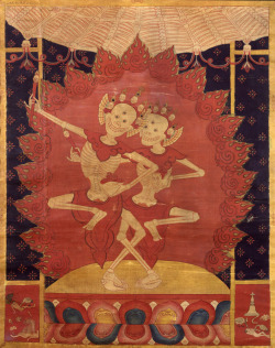 rhea137:  Tibet, 15th century, Smashana Adipati (Lords of the Charnel Ground). Collection of the Rubin Museum of Art. (A Divine Diversion | Buddhist Art News)