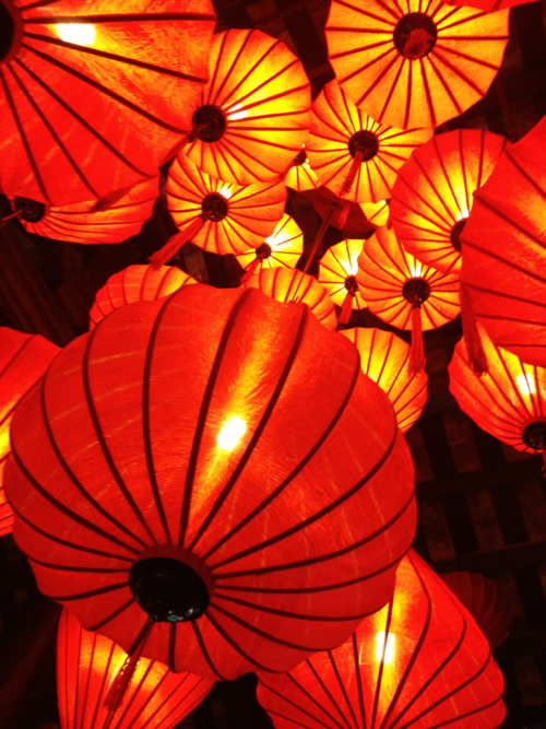 Red lanterns, Hue, Vietnam