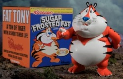 laughingsquid:  Fat Tony The Tiger Vinyl Figure by Ron English
