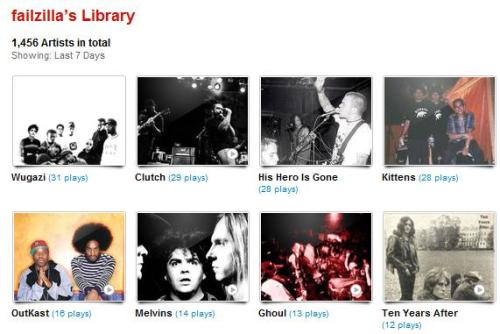 my last.fm for the week of 01.14.12 - 01.20.12