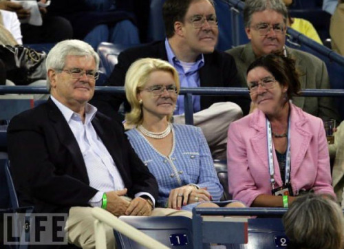 Newt and friends at a sporting event.