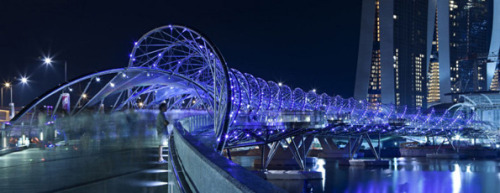 thelongcount:  The Helix Bridge of Singapore