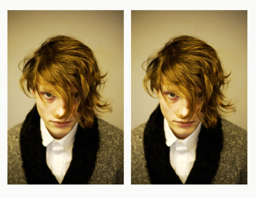 keepsdiary:  Robert Geller F/W 2011 Hair test Hair by Kenshin Asano  Photo by Peter Nguyen Model's name escapes me.
