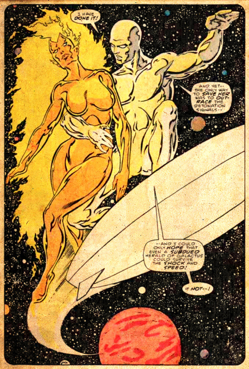 The Silver Surfer and Nova