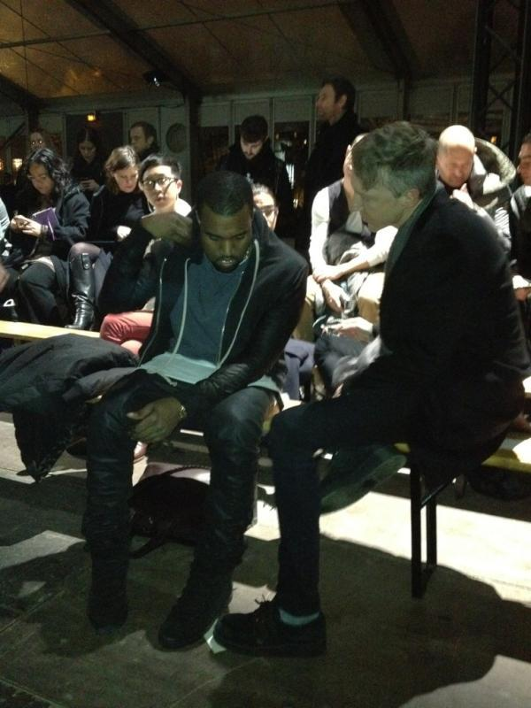 ahmedjones:  Kanye West and Jefferson Hack at Givenchy F/W Show PFW