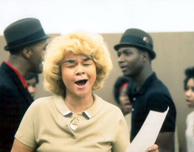 "bbook:  Following a battle with leukemia, singing legend Etta James has died at  the age of 73. Known for iconic songs like ""At Last"" and ""Spoonful,""  James was a throwback to an older, more glamorous era of singing  stardom, a diva who built the model for Aretha and countless others. She  was an enduring figure, one who struggled with drugs and weight but  never lost her stature in the canon nor her recognizable voice.  Remaining active with a new album released in November 2011, she  announced just a month later that she was terminally ill. ""This is a tremendous loss for the family,  her friends and fans around the world,"" her longtime manager Lupe De  Leon said. ""She was a true original who could sing it all — her music  defied category."" Etta James Dies at 73"