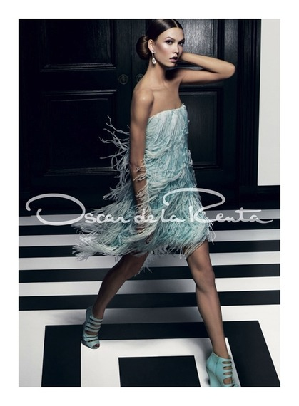Karlie Kloss for the Oscar De La Renta Spring 2012 Ad Campaign
