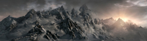 Skyrim Mountains