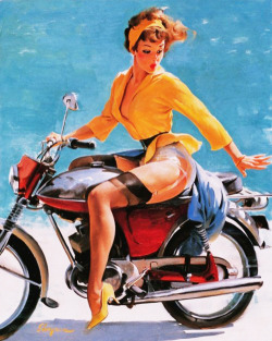 "vintagegal:  ""Skirting the Issue"" by Gil Elvgren 1956"