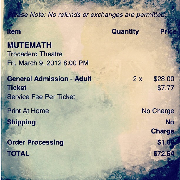 got tickets to see mutemath!  (Taken with instagram)