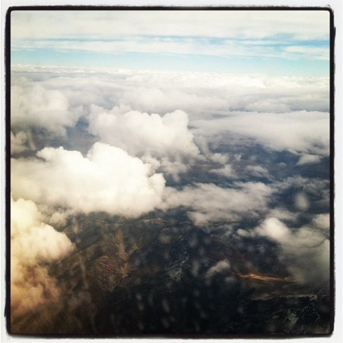 Among the clouds en route to #sundance (Taken with instagram)