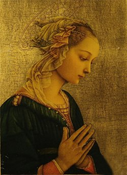 poboh:  Madonna,  Fra Filippo Lippi.  Italian Early Renaissance Painter (1406-1469)