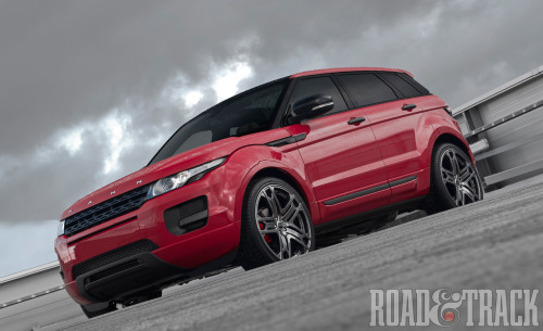 If you love the Land Rover Range Rover Evoque and also enjoy the color red, British tuner Afzal Kahn has come up with a tasteful take on the stylish British crossover. (Source: Road & Track)