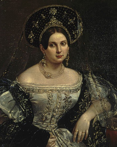 historicalfashion:  Lady-in-waiting Anna Okulova by Orlov, 1837  That's some good hat, Harry.