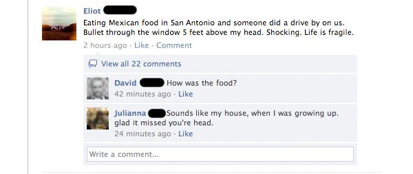 """how was the food?"" lmfao something my friends would say XD"