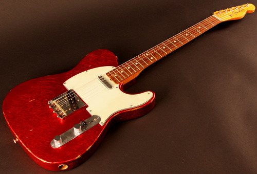 "theboweryriots:  Justin Dean Thomas' 1963 Fender custom shop Red sparkle Telecaster ""Ruby"""