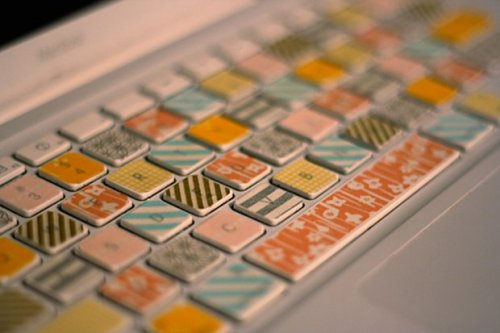 craftjunkie:  Washi Tape Keyboard {How to} Found at: hernewleaf
