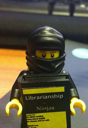 teachingliteracy:  Bob the Library Ninja (by sln1977)