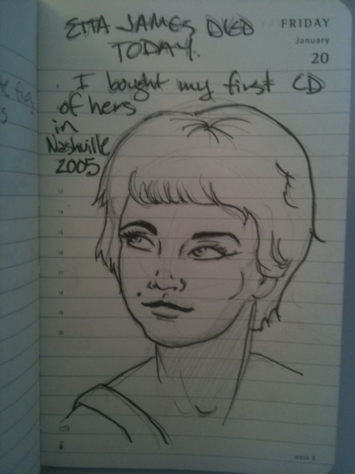 Desk sketch #67  Etta James