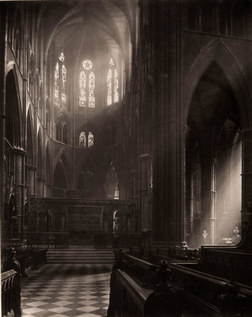 elysskama:  Westminster Abbey, Apse from ChoirFrederick H. Evans 1911
