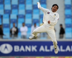 England flummoxed by Ajmal's bowling action.