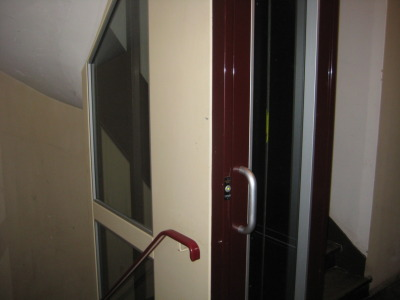 "Le Smallest Elevator du Mond:  The elevator in our apartment building in Paris was comically small.  They had basically retrofitted the existing space in an old spiral staircase to fit a mini shaft.  We couldn't even stand facing the door. At one point I looked at Amanda and said, ""You know what this is?  This is what it's like to be toast"""