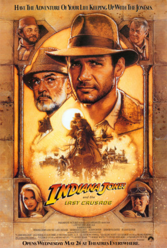 #300/#17 Indiana Jones and the Last Crusade (Rewatch) Indiana Jones (Harrison Ford) takes up the mantle one last time to track down his missing father (Sean Connery) and the holy grail before the Nazis do. I go back and forth on this because Raiders and Grail are both so good, but when pressed I'd say this is my favourite of the entire series. It's got everything I love about the original film and James Bond is playing Indy's Dad. How do you beat that? Like the previous films the story is top notch, and manages to walk the fine line between comedy and action perfectly. The Nazi's return as villains and we get a female lead you don't want to leave in the middle of the jungle this time. Add to this the continued use of some great practical effect and wonderful action scenes and it's clear to see why so many people love this movie. What makes the film however is the interactions between Henry Jones Sr and Indiana. We love Indy. We think he's awesome. He's the epitome of cool to us, so it's funny as Hell to see his Dad look at all the awesome stuff he does do and then look completely unimpressed as he winds his watch. There are parts in this film which I still laugh at now, even after multiple viewings, because it's just that good. Connery and Ford work perfectly off of one another and it's this aspect which secures it as my favourite in the series. A great end to a great series and that last shot of them riding off into the sunset just cements how perfectly to end the adventure 5/5 Wilhelm Scream #23