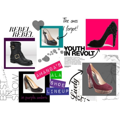 My ALA Midwinter 2012 Shoe Lineup by amandahavard featuring platform high heels