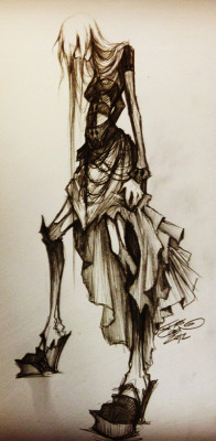 deathful:  sketch of the day~ happy friday!by iris chen.