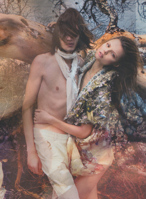 Marcel Castenmiller and Magdalena Frackowiak photographed by Mario Sorrenti for Kenzo Spring 2009